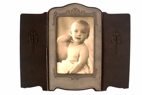 Antique Photograph of Baby Boy in Photo Folder (c.1890s) - ThirdShift Vintage