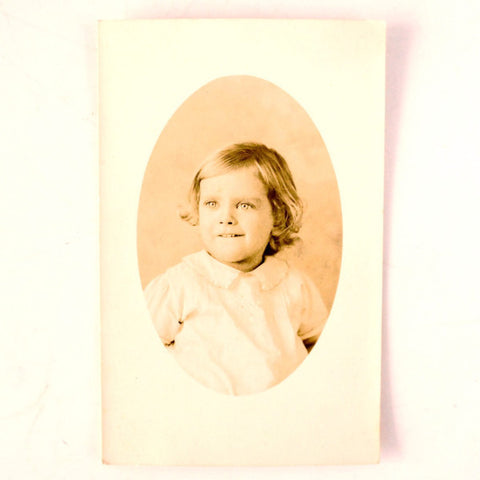 Antique Photograph Post Card of Young Girl (c.1900s) - ThirdShiftVintage.com