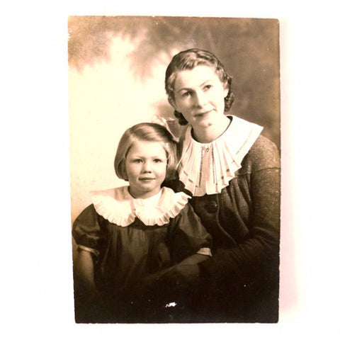 Antique Photograph of Mother and Daughter (c.1900s) - ThirdShiftVintage.com