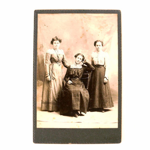 Antique Photograph Cabinet Card of Three Woman from Iowa (c.1890s) - ThirdShift Vintage