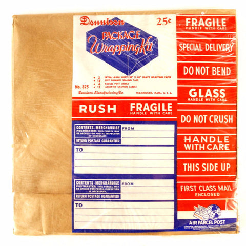 Vintage Dennison Package Wrapping Kit, Sealed in Original Packaging (c.1950s) N2 - ThirdShiftVintage.com