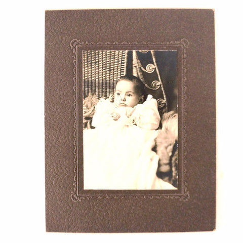 Antique Photograph of a Baby Girl (c.1800s) Lillian Esther Jones from Elk River MN - ThirdShift Vintage