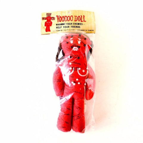 Vintage Female Voodoo Doll Novelty in Original Package (c.1970s)