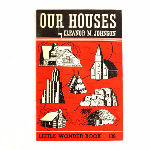 "Vintage ""Our Houses"" Little Wonder Book No. 109 (c.1951) - ThirdShiftVintage.com"