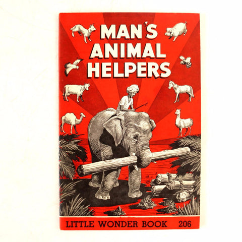 "Vintage ""Man's Animal Helpers"" Little Wonder Book No. 206 (c.1950) - ThirdShiftVintage.com"