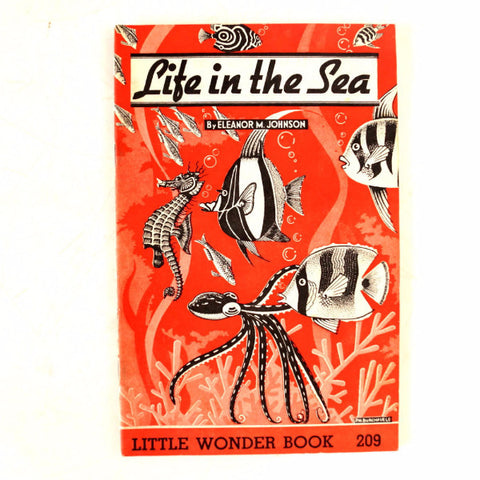 "Vintage ""Life in the Sea"" Little Wonder Book No. 209 (c.1951) - thirdshift"