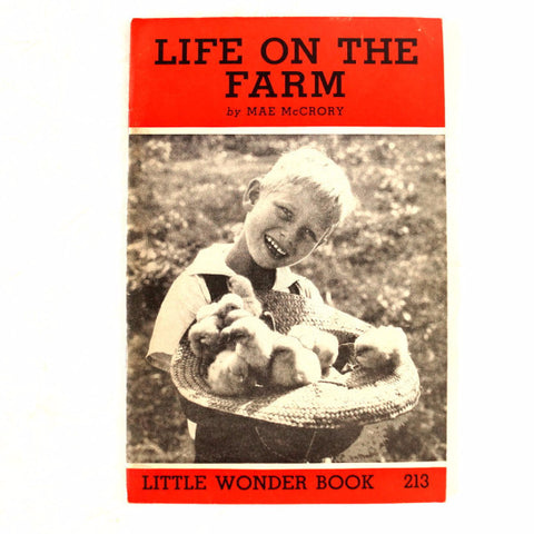"Vintage ""Life on the Farm"" Little Wonder Book No. 213 (c.1950) - ThirdShift Vintage"