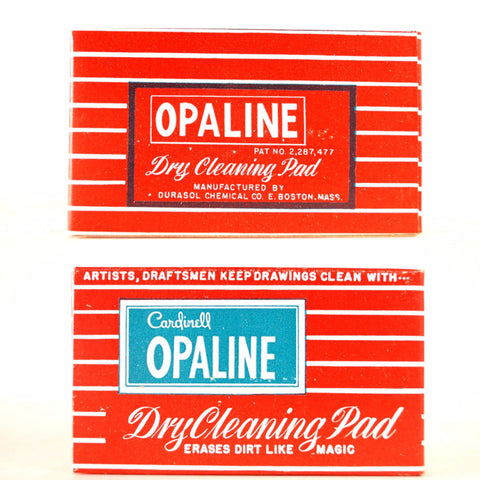 Vintage Opaline Dry Cleaning Pad for Artists and Draftsmen (c.1960s) - ThirdShiftVintage.com