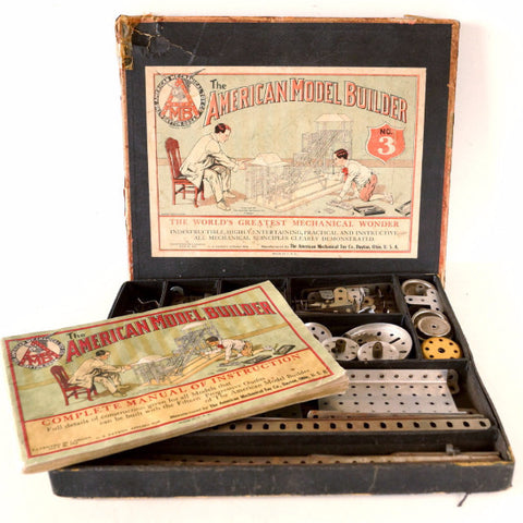 Antique The American Model Builder No. 3 Building Set (c.1915) - thirdshift