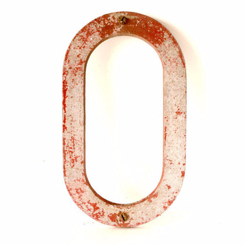 "Vintage Industrial Metal Letter ""O"" Marquee Sign, 10 inches tall (c.1950s) - ThirdShift Vintage"