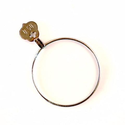 Vintage / Antique Opticial Lens in Silver 0.50+ (c.1900s) - ThirdShiftVintage.com