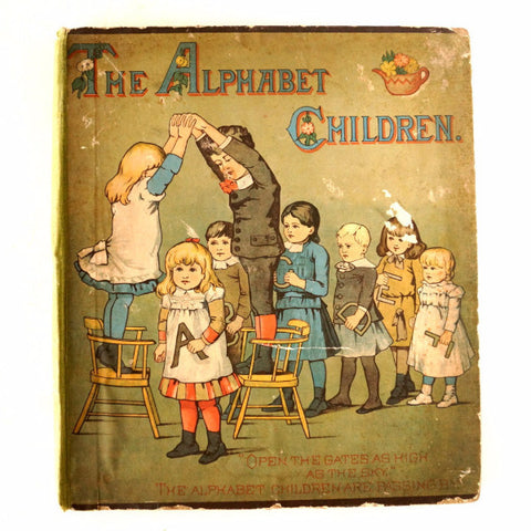 "Vintage / Antique ""The Alphabet Children"" Book (c.1884) - ThirdShiftVintage.com"