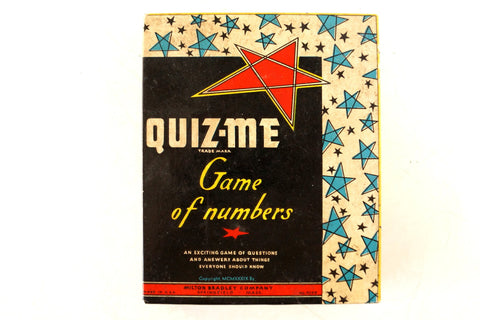 Vintage Quiz-Me The Game of Numbers by Milton Bradley, Complete Game (c.1939) - ThirdShiftVintage.com