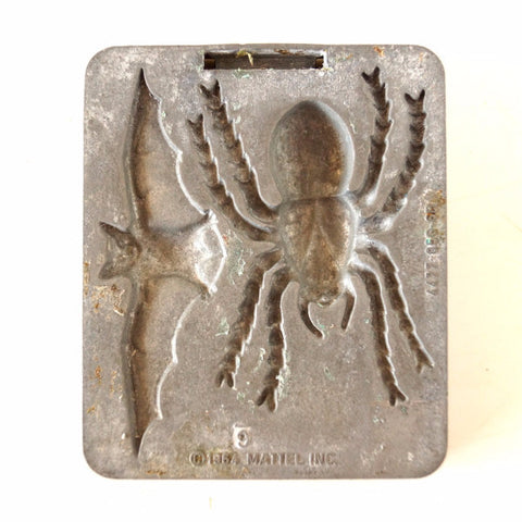 Vintage Creepy Crawlers Tarantula Bat Mold, Mattel Thingmaker #4477-056-6B (c.1964) E - thirdshift