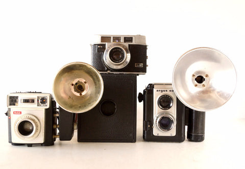 Vintage Camera Collection - Box Camera, Starmatic, Automatic 35mm, Argus 40 (c.1950s) - ThirdShiftVintage.com