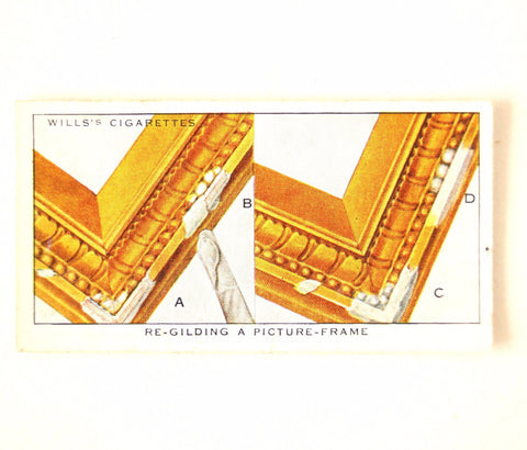 "Vintage ""Household Hints"" Cigarette Card #34 ""Re-Gilding a Picture Frame"" (c.1936) - ThirdShiftVintage.com"