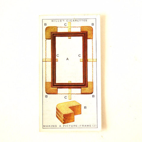 "Vintage ""Household Hints"" Cigarette Card #33 ""Making a Picture Frame"" (c.1936) - ThirdShiftVintage.com"
