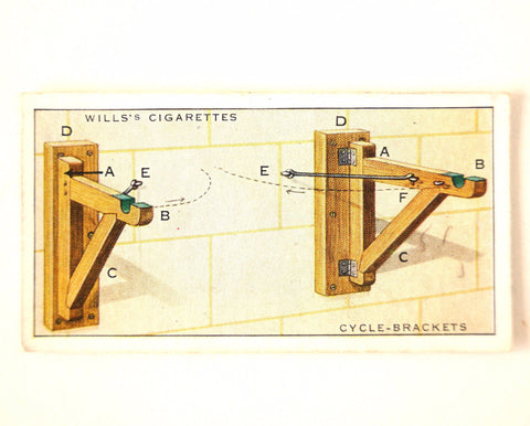 "Vintage ""Household Hints"" Cigarette Card #8 ""Cycle Brackets"" (c.1936) - ThirdShiftVintage.com"