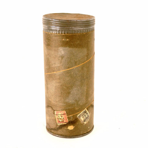 "Vintage Mailing Tube with Screw Top by Improved Mailing Case Co. 8"" tall (c.1920s) - ThirdShiftVintage.com"