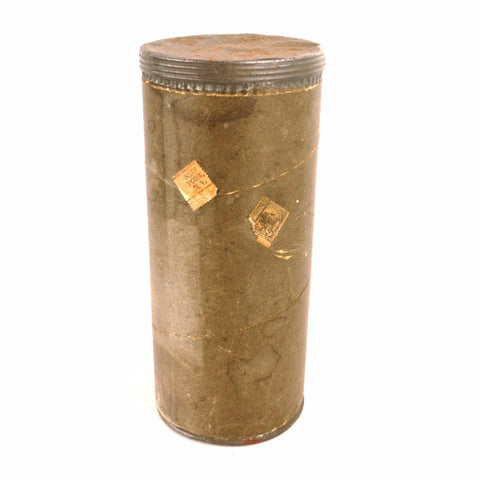 "Vintage Mailing Tube with Screw Top by Improved Mailing Case Co. 10.5"" tall (c.1920s) - ThirdShiftVintage.com"