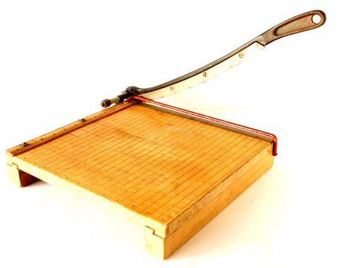 Vintage Paper Cutter Ingento No. 4 with Large Blade (c.1950s) - ThirdShiftVintage.com