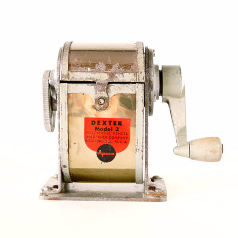 Vintage Dexter Pencil Sharpener Model 3 (c.1920s) - ThirdShiftVintage.com