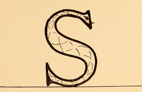 "Vintage Letter ""S"" Flashcard / Phonics Card (c.1941) - thirdshift"