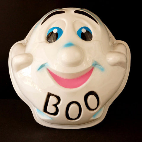 "Vintage Ghost Mask ""BOO"" for Halloween (c1950s) N2 - ThirdShift Vintage"