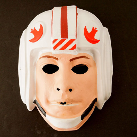 Vintage Star Wars Luke Skywalker Mask by Ben Cooper for Halloween (c1977) - ThirdShiftVintage.com