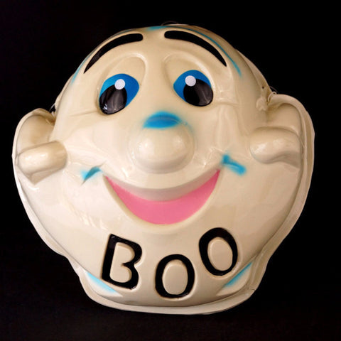 "Vintage Ghost Mask ""BOO"" for Halloween (c1950s) N1 - ThirdShiftVintage.com"