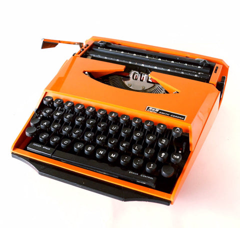 Vintage Smith Corona Karmann Ghia Super G Portable Typewriter (c.1970s)