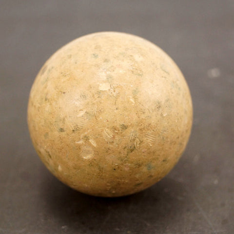 Vintage / Antique Clay Billiard White Cue Ball, Standard Pool Ball Size (c.1910s) - ThirdShiftVintage.com