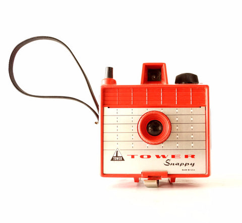 Vintage Tower Snappy Camera in Red, 620 Film Box Camera (c.1960s) - ThirdShiftVintage.com