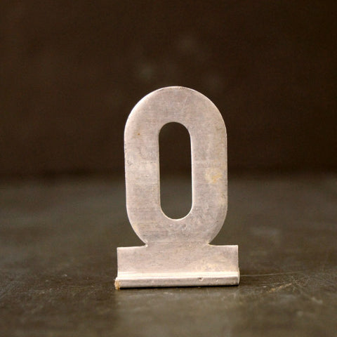 "Vintage Metal Sign Letter ""O"" with Base, 1-13/16 inches tall (c.1950s) - ThirdShift Vintage"