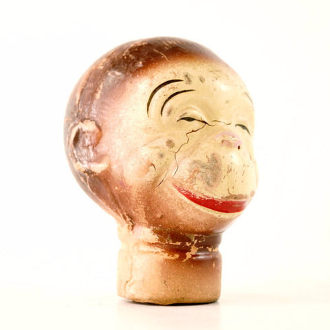 Vintage Composition Monkey Head Hand Puppet (c.1930s) N1 - ThirdShift Vintage
