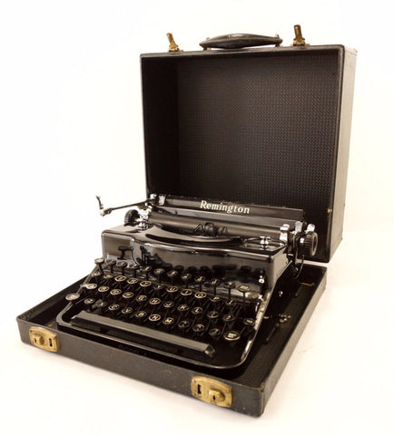 Vintage Remington Rand Model 1 Portable Typewriter (c.1939) - ThirdShiftVintage.com