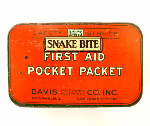 Vintage Snake Bite Kit, Complete in Original Tin (c.1920s) - ThirdShiftVintage.com