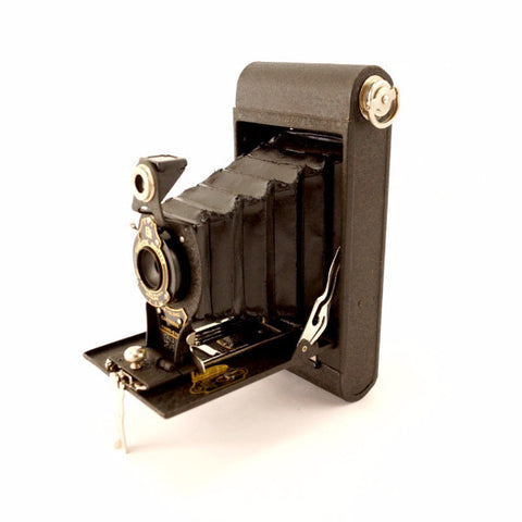 Vintage Kodak No 2 Folding Cartridge Hawkeye Camera, Box, Manual (c.1924) - ThirdShift Vintage