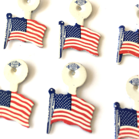 Vintage American Flag Collar Pins, American Legion, Set of 12 (1970s) - thirdshift