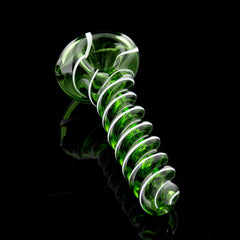 Textured Twist Color Glass Spoon with Stripe Glassheads Wholesale - Head Shop Headquarters