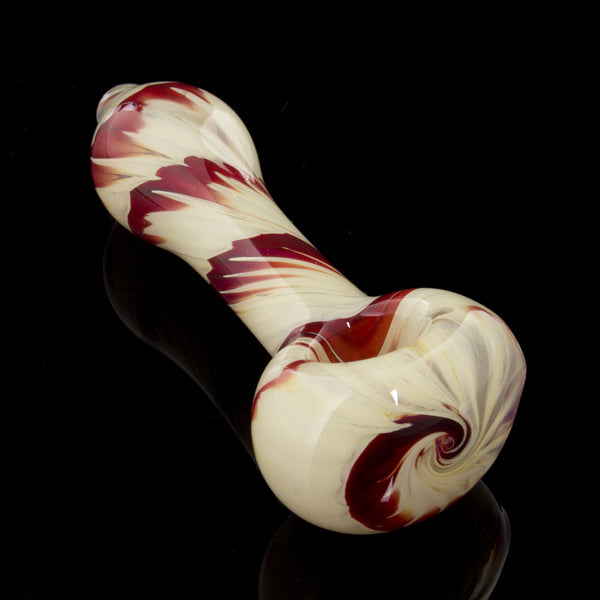 Wrap-n-Rake Heavy Exterior Fumed Swirl Spoon Glassheads - Head Shop Headquarters