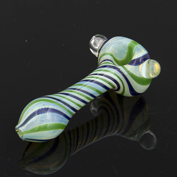 Twist Wrap Fumed Spoon with Marble Glassheads Wholesale - Head Shop Headquarters