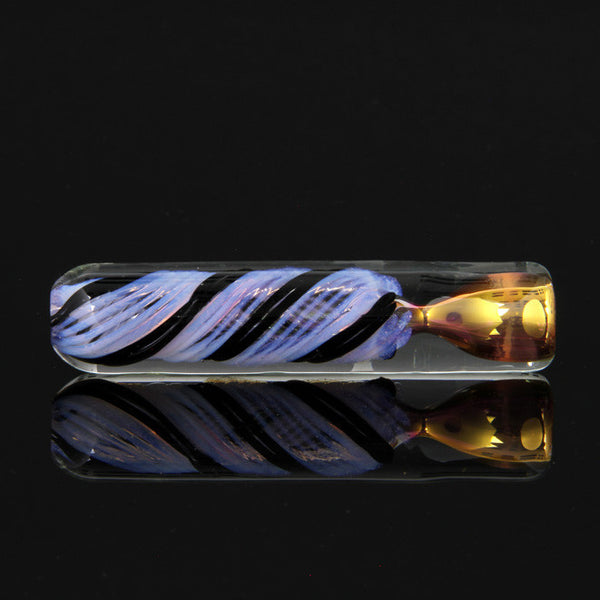 Ultra heavy color changing purple slime and black chillum with gold and silver fuming Glassheads - Head Shop Headquarters