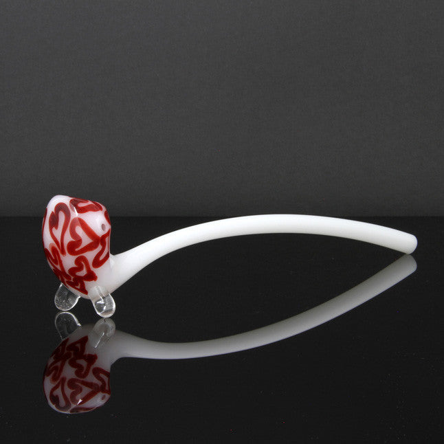 "Glassheads 13"" Heart White Gandalf Hand Pipe Glassheads - Head Shop Headquarters"