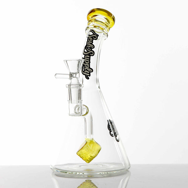 Sesh Supply - Beaker Base with Cube Perc Sesh Supply - Head Shop Headquarters