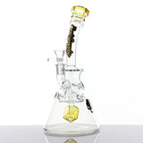 Sesh Supply - Fab egg beaker with cube perc and color accents Sesh Supply - Head Shop Headquarters