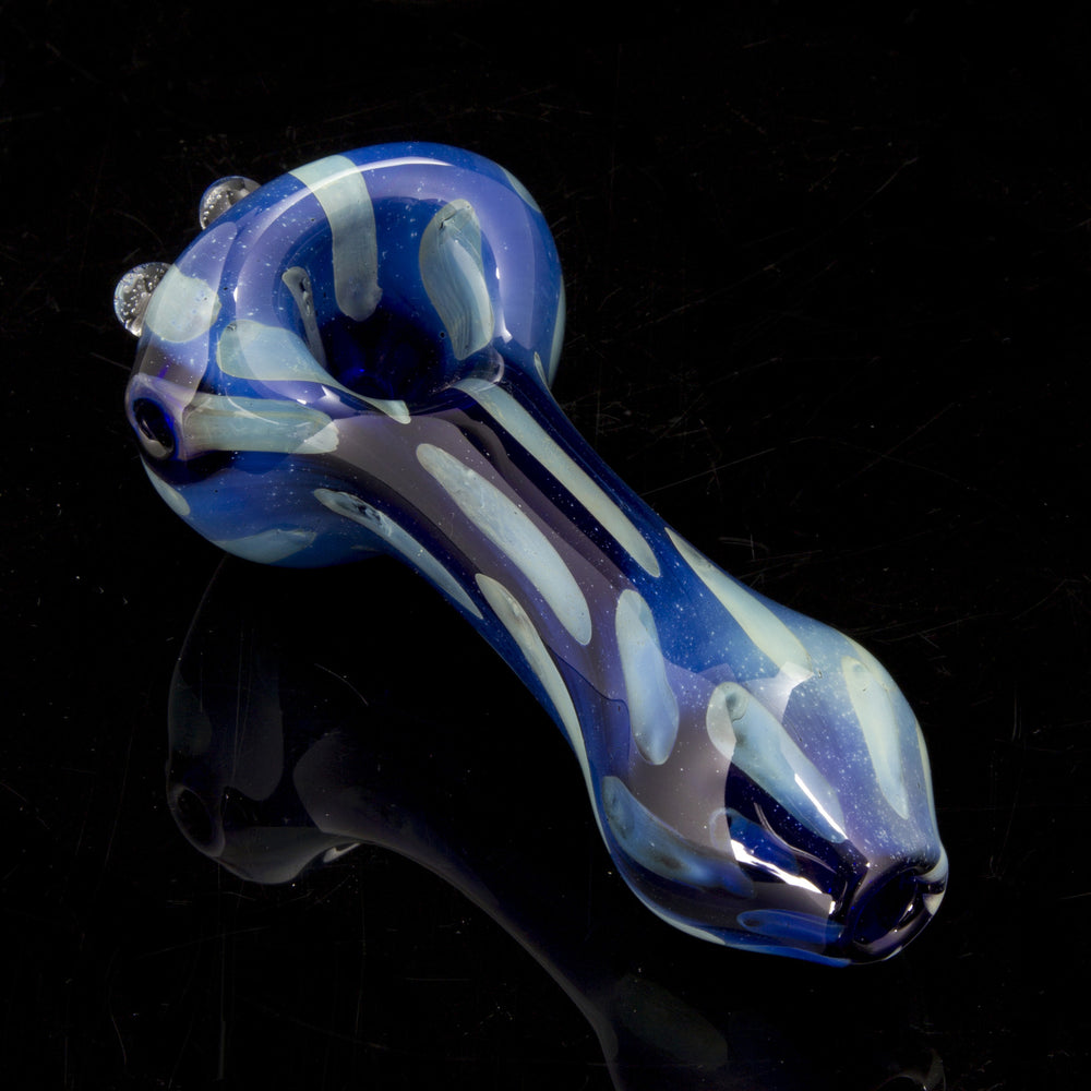 "4.25"" Surface Dot Fumed Blue Pipe"