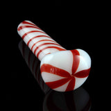 "4.5""-5"""" Solid white spoon with various color stripes"