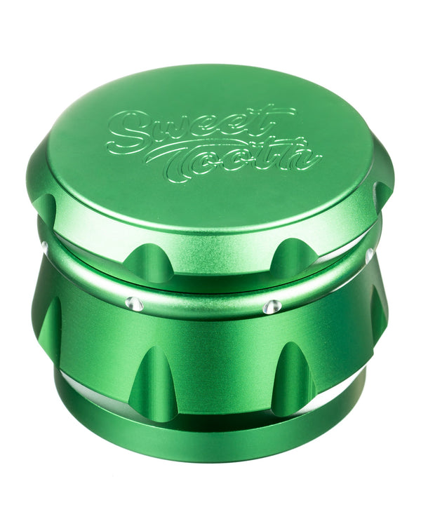 4-Piece Diamond Crest Aluminum Grinder Sweet Tooth - Head Shop Headquarters