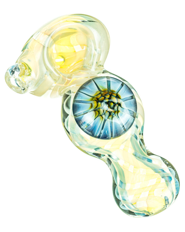 Fumed Mini Spoon Pipe with Mushroom Milli DankStop - Head Shop Headquarters